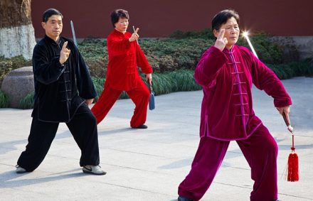 Morning Tai Chi Class along the shores of West Lake